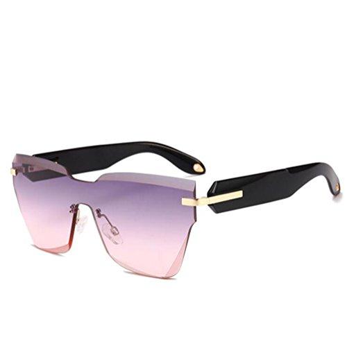 Lente Corte amp;HA Z De Gafas Sin Transparentorange Sol De Gafas UV400 Purplepink Una Resina Hombres De Unisex Y Outdoor Pieza Extragrandes Mujeres Nuevo Cuadradas Escudo De Marco De Cristal Cwxwzrq
