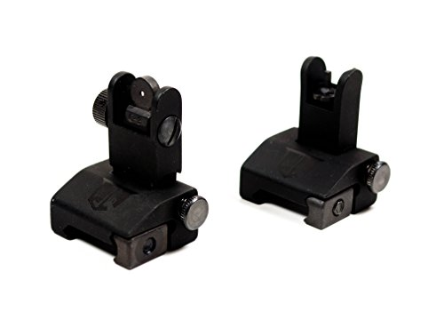 Flip-Up-Backup-Battle-Sights-by-Ozark-Armament-Picatinny-Mount-AR-Pattern-Flat-top-Upper-Co-Witness-Iron-Sights-BUIS