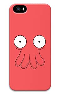 BESTER iPhone 5S Case, iPhone 5S Cases - Anti-Scratch Hard Case for iPhone 5s with Futurama Zoidberg 3D Print Design Protective Back Bumper Case for iPhone 5s