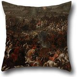 - 16 X 16 Inch / 40 By 40 Cm Oil Painting Pauwel Casteels - Battle Of Vienna Pillowcase ,2 Sides Ornament And Gift To Divan,bf,study Room,kids,study Room,play Room