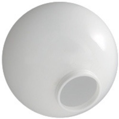 12 in. White Acrylic Globe - 4 in. Extruded Neck Opening - American PLAS-12NW4