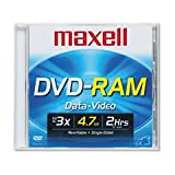 Maxell 1-pack DVD-RAM Media 4.7GB Rewrite