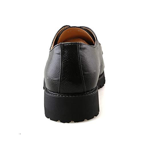 Zapatos Moda Hombres de y Oxford Redondas Ocasionales para Formales Oxford de de Negro Moda rprZF7