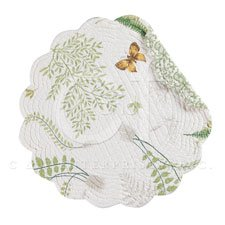 C&F Ent 17'' Round Placemat, Althea, Set of Four