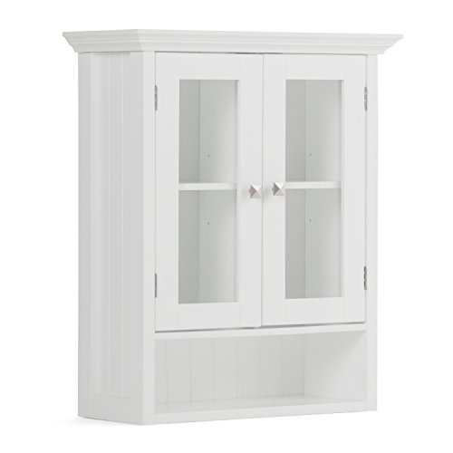 Simpli Home Acadian Double Door Wall Cabinet, White by Simpli Home