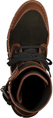 Bottes D brown Femme Motardes Geox D Noir C0111 Porthya black AaxPqtH