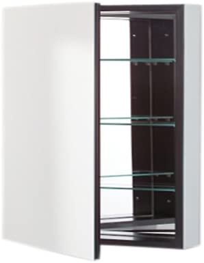 Robern PLM3030B PL Series Flat Top Cabinet, 30-Inch W by 30-Inch H by 3-3 4-Inch D, Black Interior