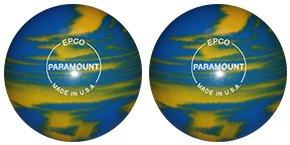 EPCO-Duckpin-Bowling-Ball-Marbleized-Marigold-Royal-2-Balls