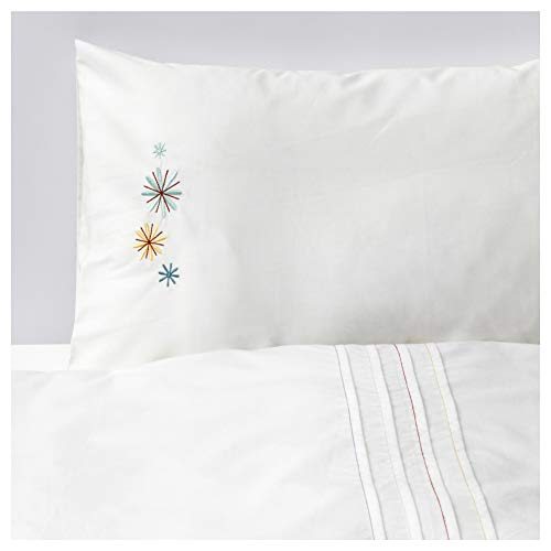 IKEA TILLGIVEN Crib Duvet Cover and Pillowcase White for Child Toddler Baby