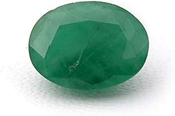 Jaipur Gems Mart 1.35 Quilates Forma Oval Natural de Zambia Verde Esmeralda Cabochan Pieza para Hacer la joyería, Pendiente de la Esmeralda, la curación de Piedras Preciosas