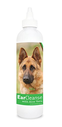 Healthy Breeds Dog Ear Care Rinse for German Shepherd, Brown - OVER 200 BREEDS - Vet Recommended Formula - Easier Than Wipes & Pads - Cucumber Melon 8 oz from Healthy Breeds