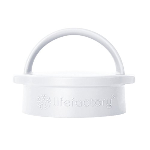 Lifefactory BPA-Free Classic Cap for 12-Ounce, 16-Ounce, and 22-Ounce Glass Bottles, Optic White ()