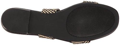 Steven Af steve Madden Kvinders Friendsy Flad Sandal Sort / Multi Tz80Y