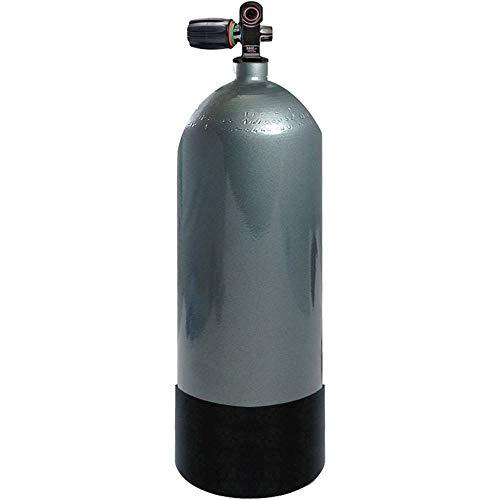 Faber FX Series 100 cu ft High Pressure Blue Steel Tank F-X Din/Yoke 3442 psi, Steel Scuba Tank, Steel Scuba Cylinder, Diving Tank, Scuba Cylinder, Scuba Tank (Scuba Cylinder Steel)
