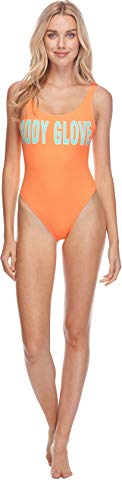 (Body Glove Women's Smoothies The Look Solid One Piece Swimsuit, Mango 1, Small)