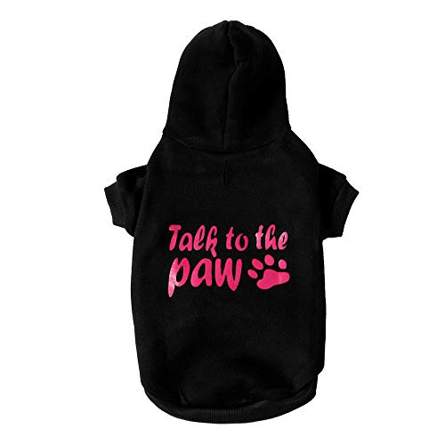 Pet Clothes Dog Pet Clothes Hoodie Warm Sweatshirts Puppy Coat Apparel Letter Print Costume Small Dogs Pet Clothes Vest T Shirt For Small Medium Dog Cat Puppy Rabbit Pig Warm Dog Outfits (Black, XS) by succeedtop (Image #3)