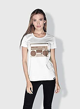 Creo Boombox Retro T-Shirts For Women - Xl, White