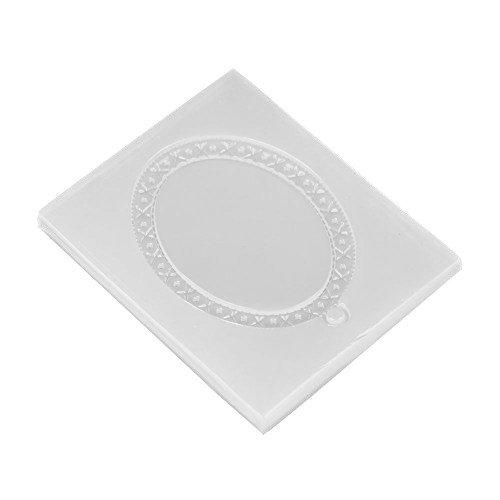 4pcs quadratische Form Art Decortive Silikonformen Epoxidharz DIY Mould Oval Anhä nger machen Hilitand