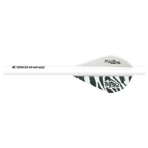 Bohning White Tiger Blazer Quik Fletch 6pk