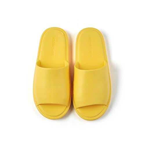 de Fondo Zapatillas Sandalias Amarillo Baño de Zapatillas Desodorante de y casa DYY Antideslizantes par de claro Suave 0Xdq4Pq