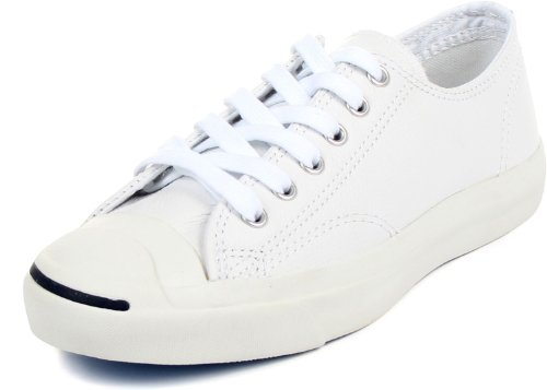 Converse Jack Purcell Leather Fashion-Sneakers, White, 8 B(M) US Women / 6.5 D(M) US - Leather Jack Converse Purcell