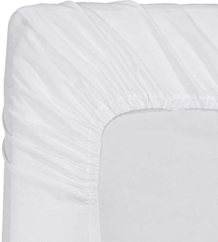 Utopia Bedding Premium Cotton Fitted Sheet Thread Count 300 (Twin, White)