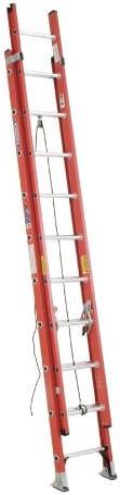 Werner 20 ft Fiberglass Extension Ladder, 300 lb Load Capacity, 44.5 lb Net Weight D6220-2 - 1 Each