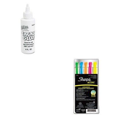 KITCKC3375SAN27075 - Value Kit - Chenille Kraft Kraft Tacky Glue (CKC3375) and Sharpie Accent Pocket Style Highlighter (SAN27075)