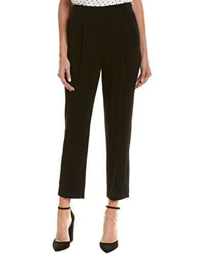 Rebecca Taylor Womens Pleated Crepe Pant, 4