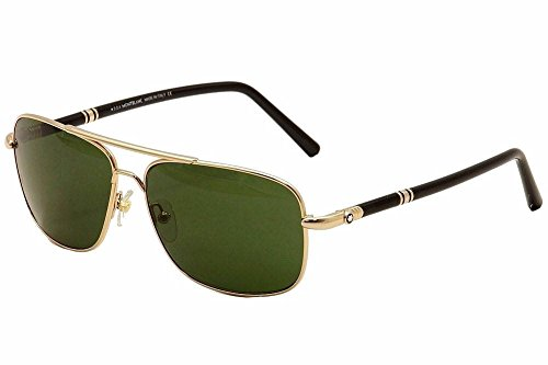 Mont Blanc 508 28N Gold and Black 508S Aviator Sunglasses Lens Category - Sunglasses 6014