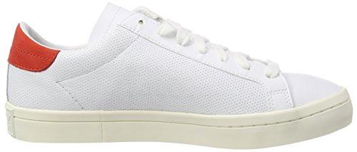 adidas Footwear White Uomo Ginnastica Courtvantage Red Bianco da Basse sld White Footwear Scarpe zvqSznr