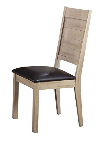 Cheap Acme Furniture Acme 72007 Ramona Side Chair, Espresso PU & Antique Beige (Set of 2)