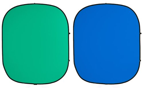 Savage 60 x 72'' Collapsible/Reversible Background (Chroma Green/Blue) by Savage