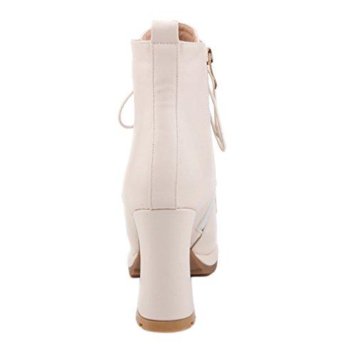 Enmayer Donna Tacchi Tacchi Tacco Alto Con Tacco Antumn & Invernale Tacco Alto Stivaletti Scarpe Per Donna Albicocca