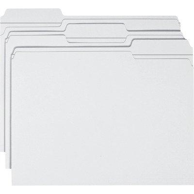 Smead 12834 File Folders 1/3 Cut Reinforced Top Tab Letter White (12834 File)