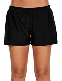 8d0e271a735c8 Womens Side Split Waistband Swim Shorts with Panty Liner Plus Size S - 3XL