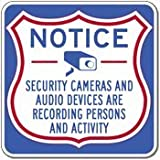 Security Cameras And Audio Devices Are Recording - 18x18