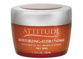 Attitude Line Night Moisturizer with D.M.A.E and Ester C for Oily Skin, ()