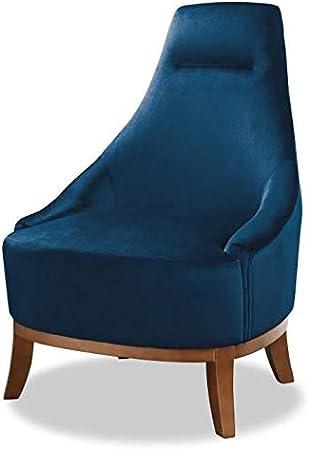 Fauteuil Joseph Fauteuil Pieds Bois Velours Bleu L 64 x P