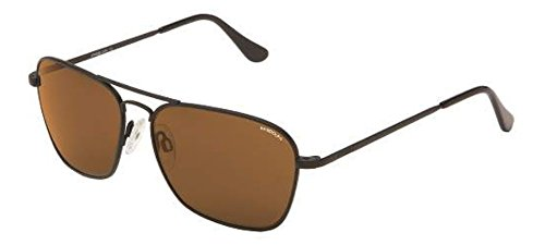 Randolph INTRUDER Sunglasses IR82412 - PC Matte Black Frame, Skull, Tan Lens (Intruder Sunglasses)