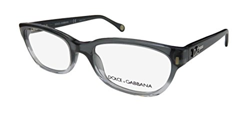 Dolce Gabbana 1205 Womens/Ladies Cat Eye Full-rim Flexible Hinges Eyeglasses/Eye Glasses (50-17-135, Transparent Gray / - Dolce Gabbana Store And