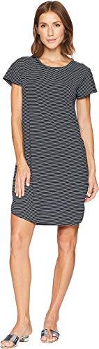 (Fresh Produce Women's Pinstripe Kylie T-Shirt Dress Black Large )