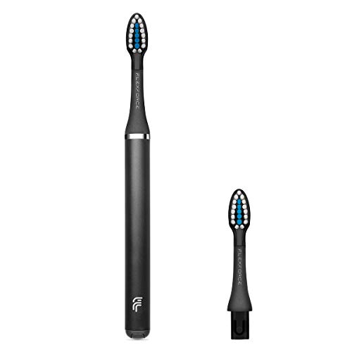 (Toothbrushes Soft Bristles Sensitive Gum Care Manual Toothbrush with Replacement Brush Heads-Black)