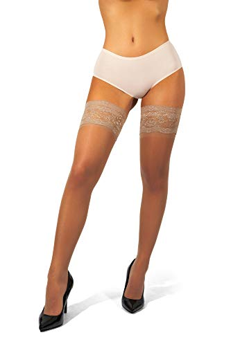 850e98fe26d sofsy Lace Sheer Thigh-High Stockings Pantyhose w Hold-Up Silicone - 15 or  20 Denier  Made in Italy  - Buy Online in UAE.