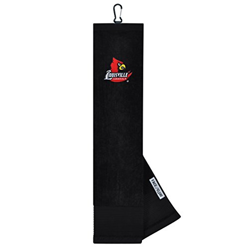 Louisville Cardinals Face/Club Embroidered Towel
