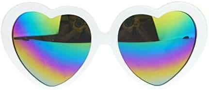 Womens Revo Rusta Mirror Lens Plastic Frame Heart Shape Sunglasses