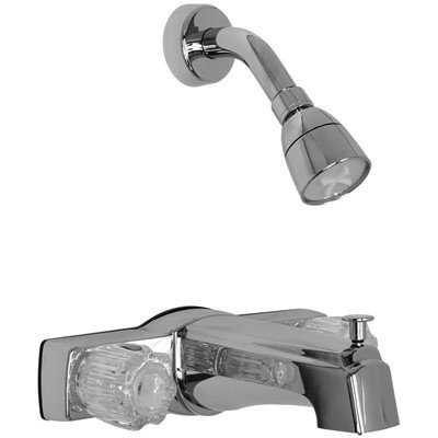 PROPLUS GIDDS-160006 Bathtub and Shower Faucet with Diverter and Non-Metallic Waterways