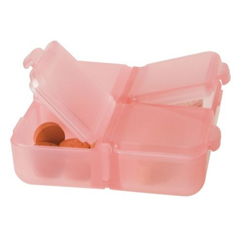 UPC 025732008506, Travelon Pink & Green pill boxes- pack of 2