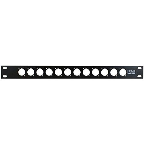 GLS Audio Rack Patch Panel w/ 12 Holes SWP-12XLR-GLS Single Space (Audio Panel)