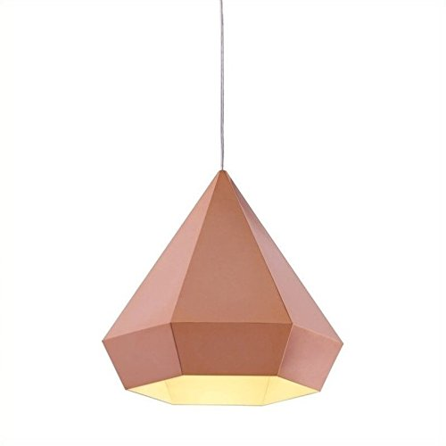 Zuo 50174 Forecast Ceiling Lamp, Rose Gold -